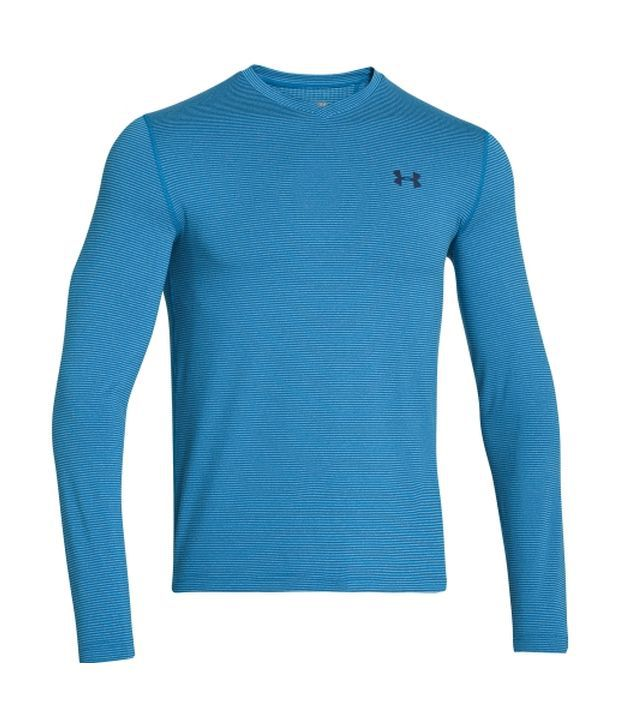 Under Armour Under Armour Men's Coldgear Infrared V-neck Long Sleeve Shirt, Pump/ox Blood/risk Red