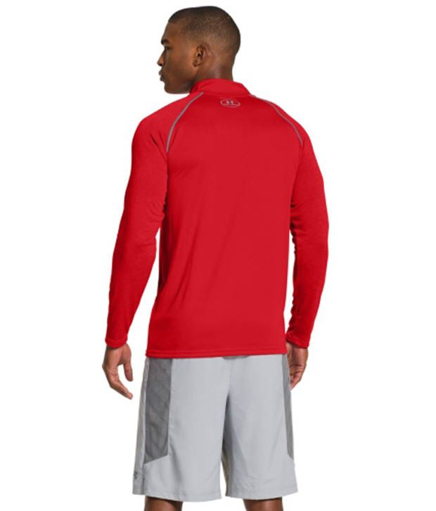 Under Armour Under Armour Men's Ua Tech Quarter Zip Long Sleeve Shirt, Deep Red/red/red