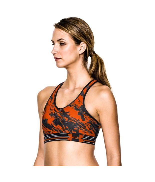 Under Armour Under Armour Women's Tough Mudder Heatgear Alpha Sports Bra, Black/vivid