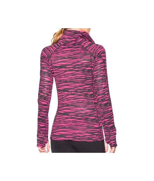 Under Armour Under Armour Women's Coldgear Printed Half Zip Long Sleeve Shirt, Europa Purple