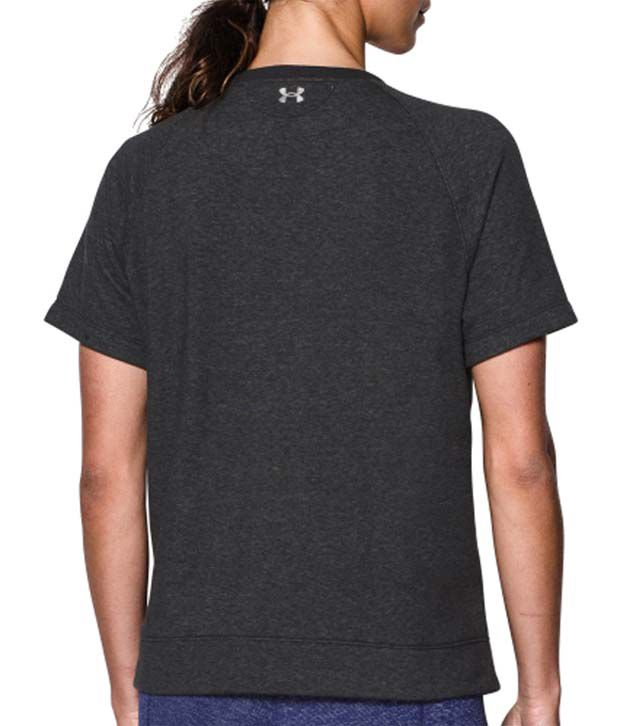 Under Armour Under Armour Women's Studio Terry Fleece Short Sleeve Crewneck Sweatshirt, Ox Blood