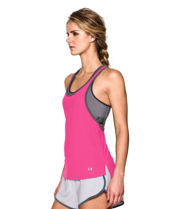 Under Armour Under Armour Women's Alpha Mesh Loose Tank Top, Graphite/black