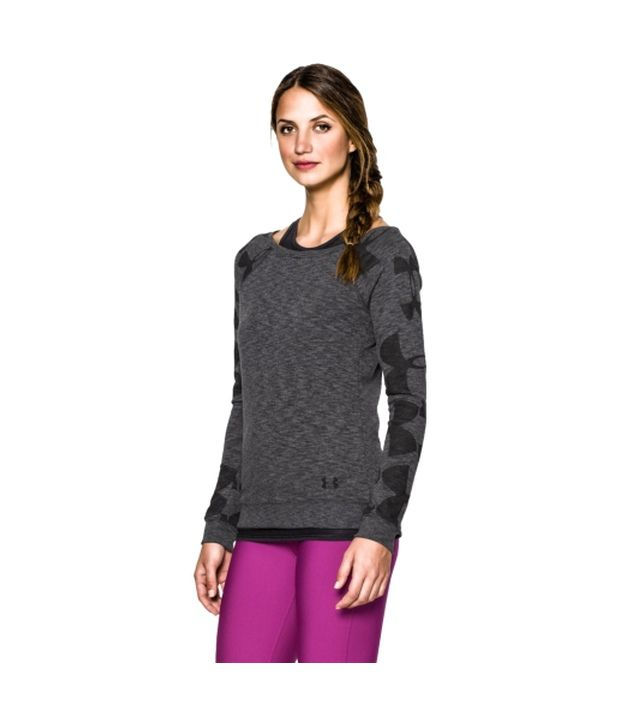Under Armour Under Armour Women's Kaleidalogo Pullover Long Sleeve Shirt, Silv Heather/glacier Gray