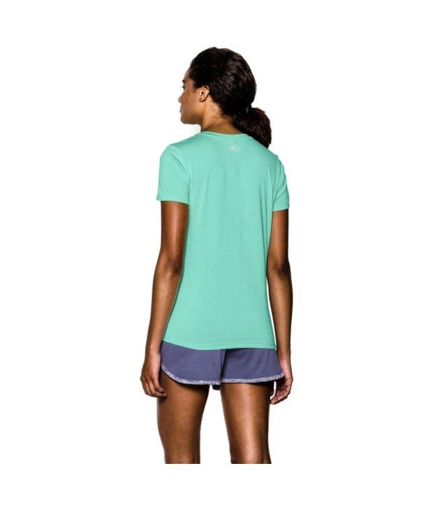 Under Armour Under Armour Women's Twisted Tech V-neck Shirt, Hyper Green