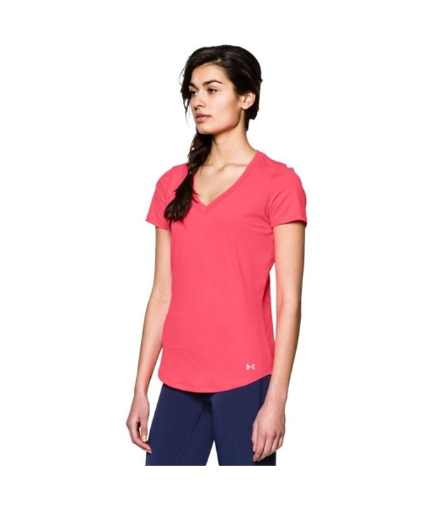 Under Armour Under Armour Women's Armourvent V-neck Short Sleeve Shirt, Island Blue