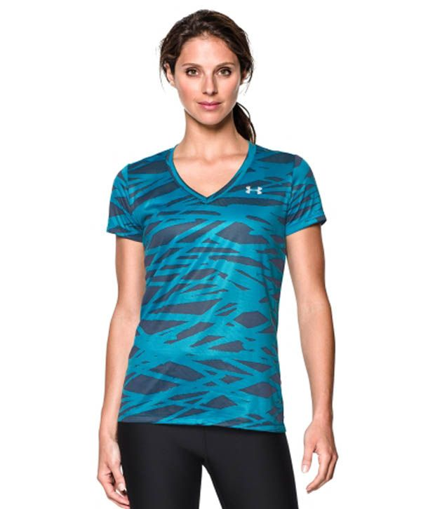 Under Armour Under Armour Women's Tech Twist Print T-shirt, Pacific/crosshatch