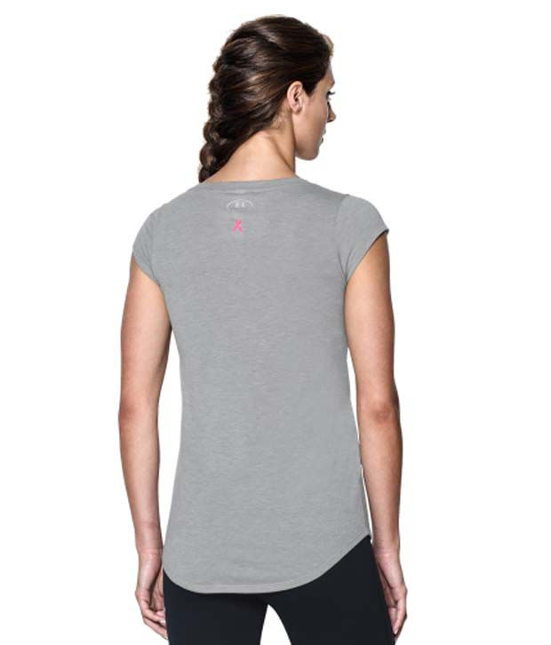 Under Armour Under Armour Women's Power In Pink I Fight For T-shirt, True Gray Heather
