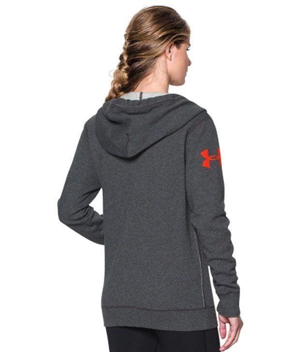 Under Armour Under Armour Women's Favorite Fleece Wordmark Hoodie, Carbon Heather/rbp