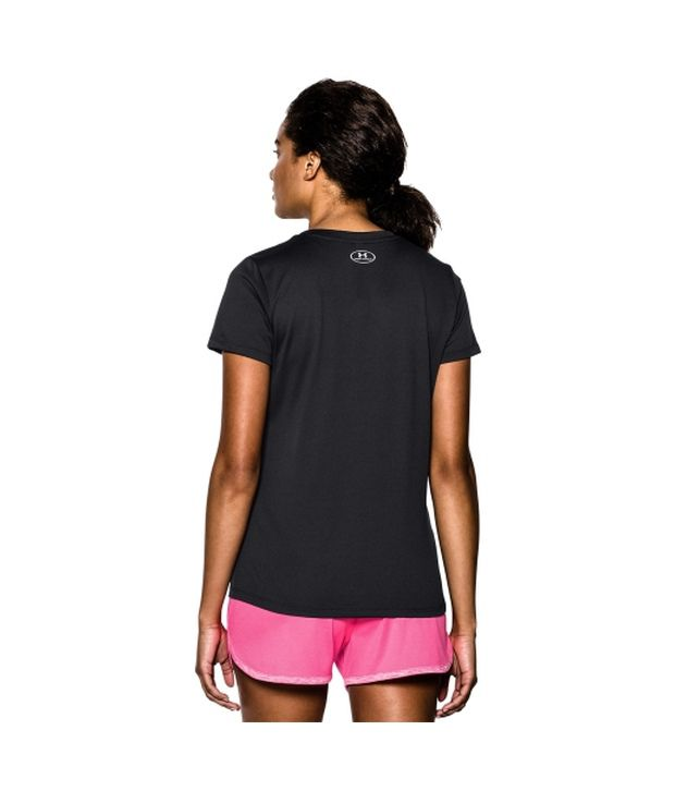 Under Armour Under Armour Women's Tech V-neck Short Sleeve Shirt, Flash Light
