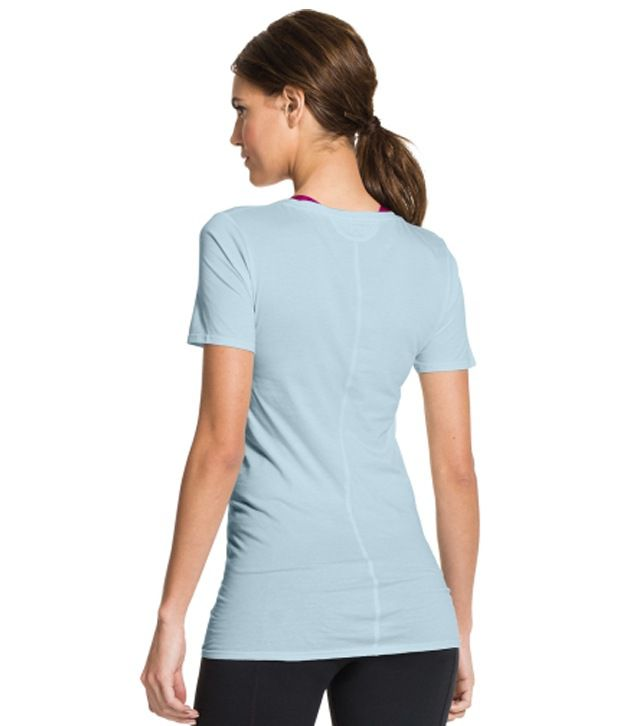 Under Armour Under Armour Women's Long And Lean Scoop Neck Short Sleeve Shirt, Stillwater