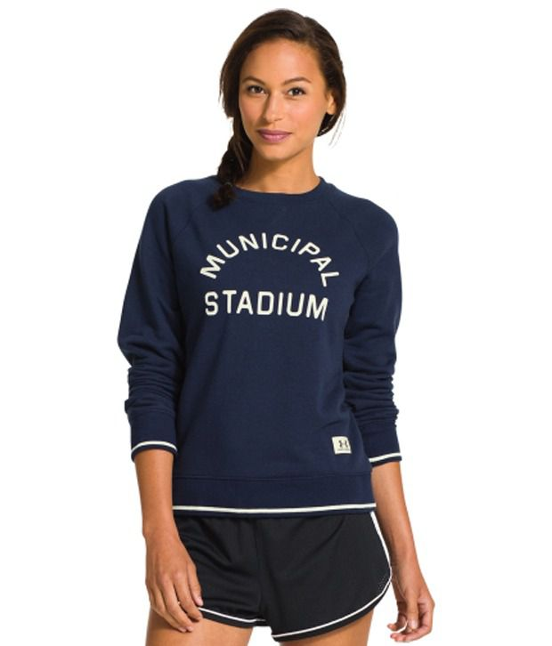 Under Armour Under Armour Women's Legacy East French Terry Crewneck Long Sleeve Shirt, Rifle/granite
