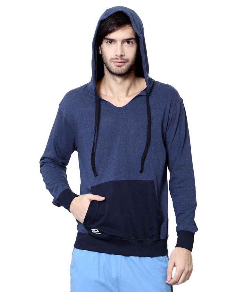 Ajile by Pantaloons Blue Hooded Neck T Shirt