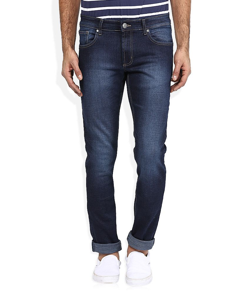 Ruf And Tuf Blue Skinny Fit Jeans