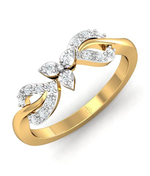 Stylori 18kt Gold Bis Hallmarked Round Diamond Ring