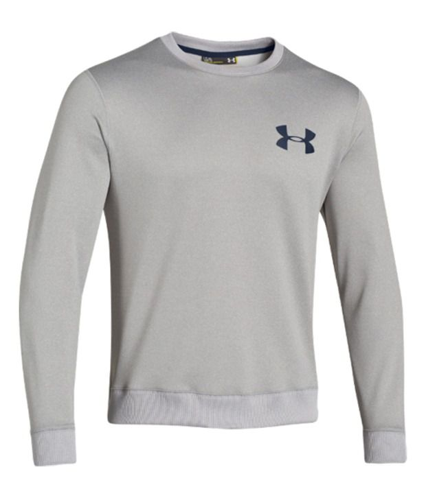 Under Armour Men's Armour Fleece Crewneck Sweatshirt True Gray Heather/Academy