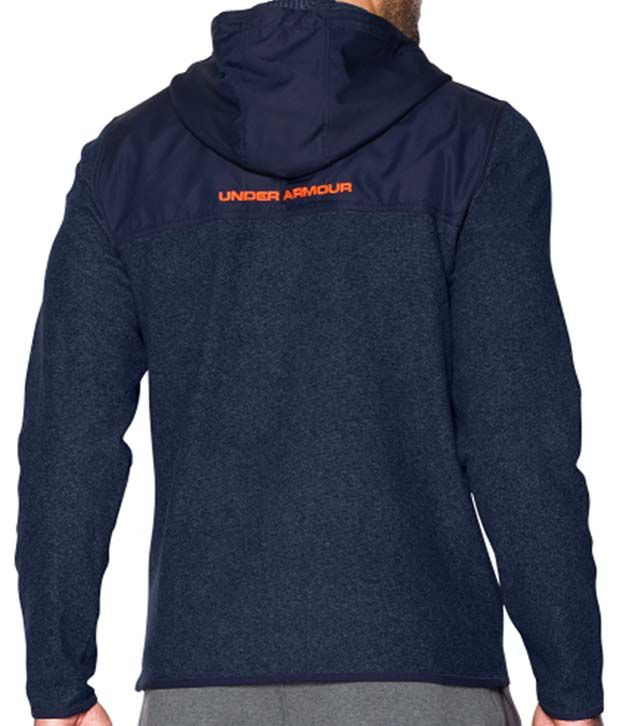 Under Armour Men's ColdGear Infrared Survival Fleece Full-Zip Hoodie Steel/Stealth Gray