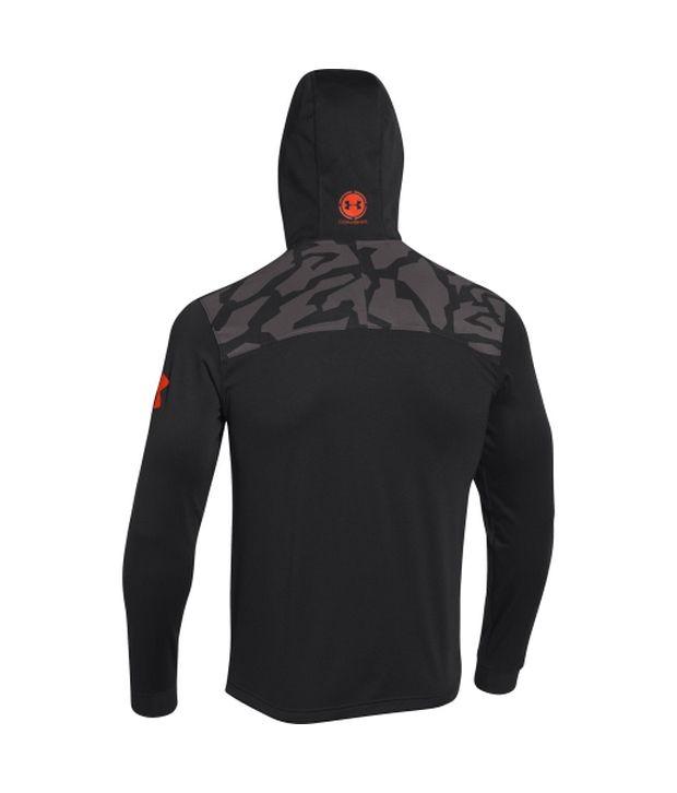 Under Armour Men's Combine Training Tundra Quarter Zip Hoodie Black/Black/Volcano