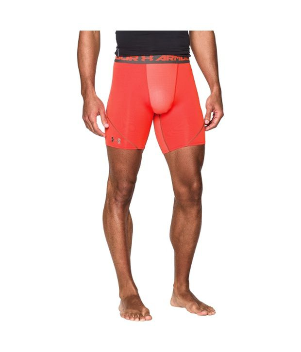 Under Armour Men's HeatGear Armour Stretch Compression Shorts Red/Black