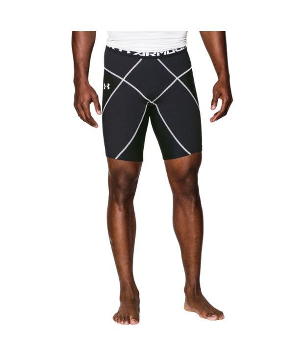 Under Armour Men's HeatGear Armour Coreshort Compression Shorts Black/White