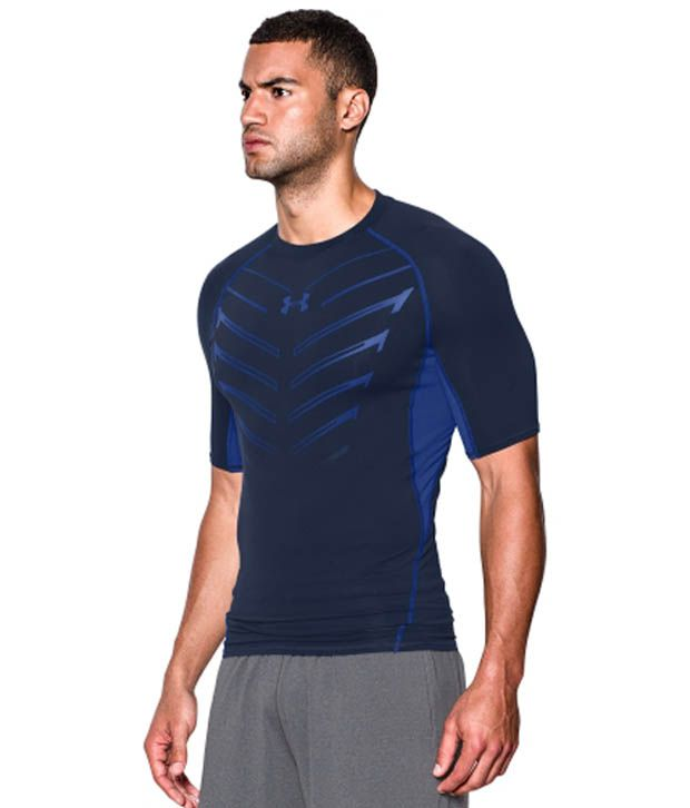 Under Armour Men's HeatGear Armour EXO Compression T-Shirt, Stealth Gray/Hyper Green