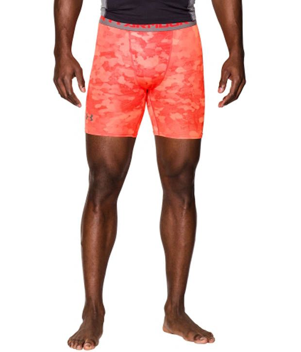 Under Armour Men's HeatGear Armour Printed Compression Shorts, Island Blues