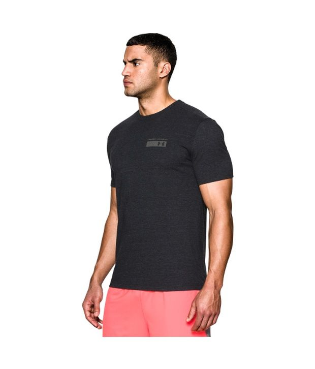 Under Armour Men's Military Issue T-Shirt, Bolt Orange/Graphite
