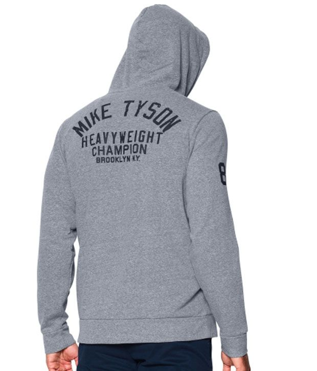 Under Armour Men's Roots Of Fight Mike Tyson WHC Hoodie Greyhound Heather