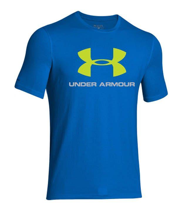 Under Armour Men's Sportstyle Logo Graphic T-Shirt, Blue Jet/Hi Vis Yellow