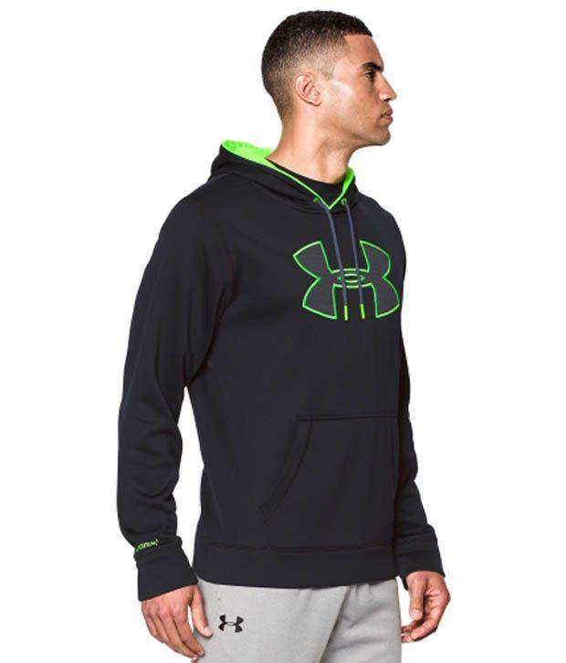 Under Armour Men's Storm Armour Fleece Big Logo Hoodie Hyper Green/Stealth Gray