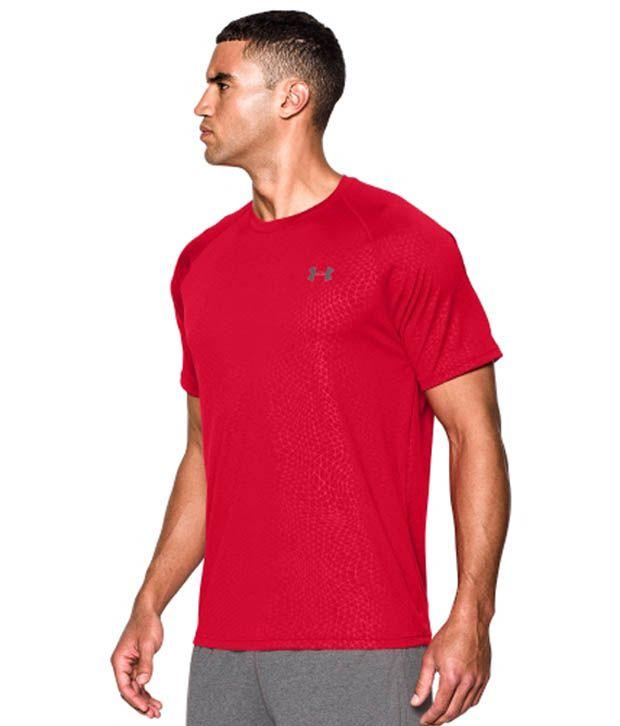 Under Armour Men's Tech Apex Patterned T-Shirt, Petrol Blue/Black/Black
