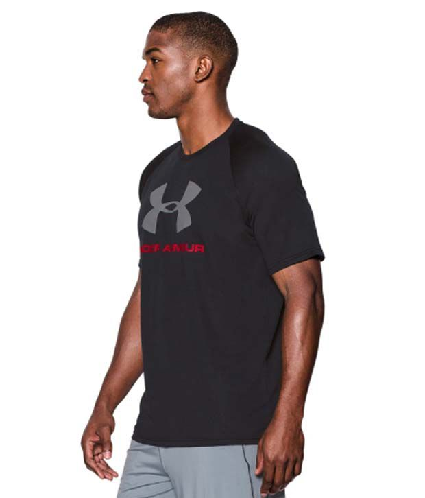 Under Armour Men's Tech Sportstyle Logo T-Shirt, Midnight Navy/White