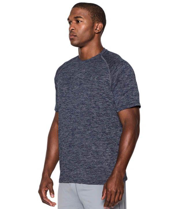 Under Armour Men's Tech T-Shirt, Cobalt/Bolt Orange