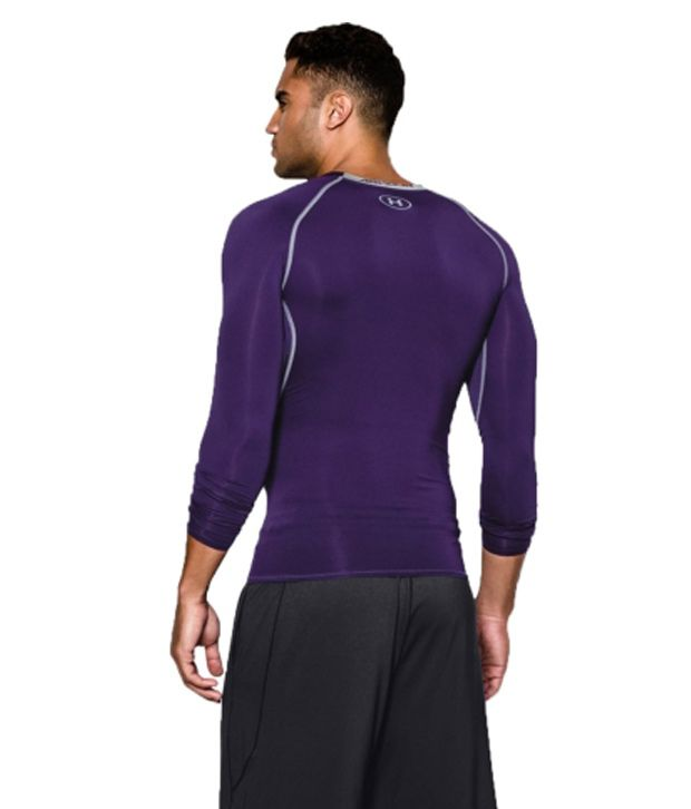 Under Armour Under Armour Men's Heatgear Armour Long Sleeve Compression Shirt, Midnight Navy/steel