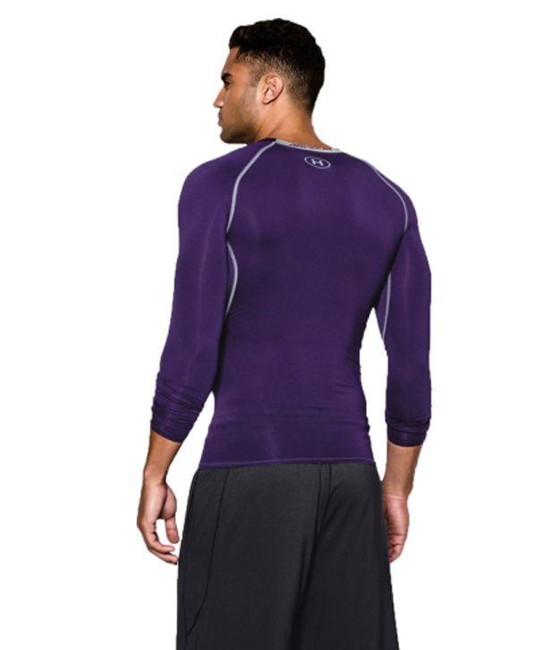 Under Armour Under Armour Men's Heatgear Armour Long Sleeve Compression Shirt, Purple