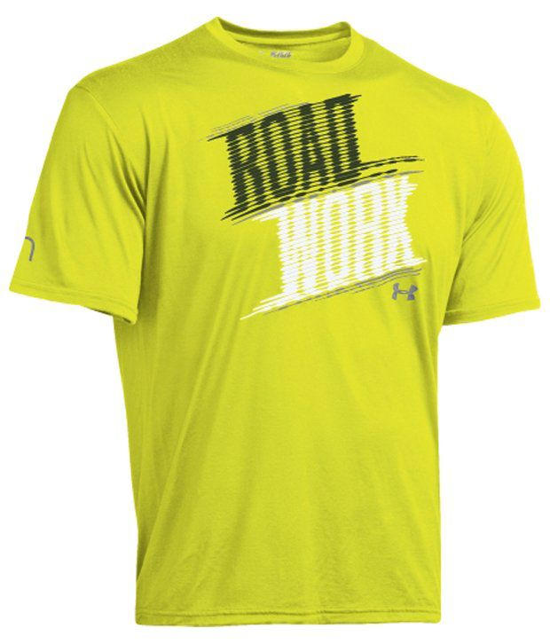 Under Armour Under Armour Men's Run Road Work Graphic T-shirt, High-vis Yellow
