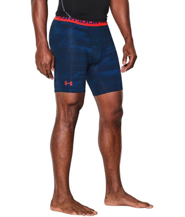 Under Armour Under Armour Men's Heatgear Armour Launch Print Compression Shorts, Stealth Grey/stlhypergreen