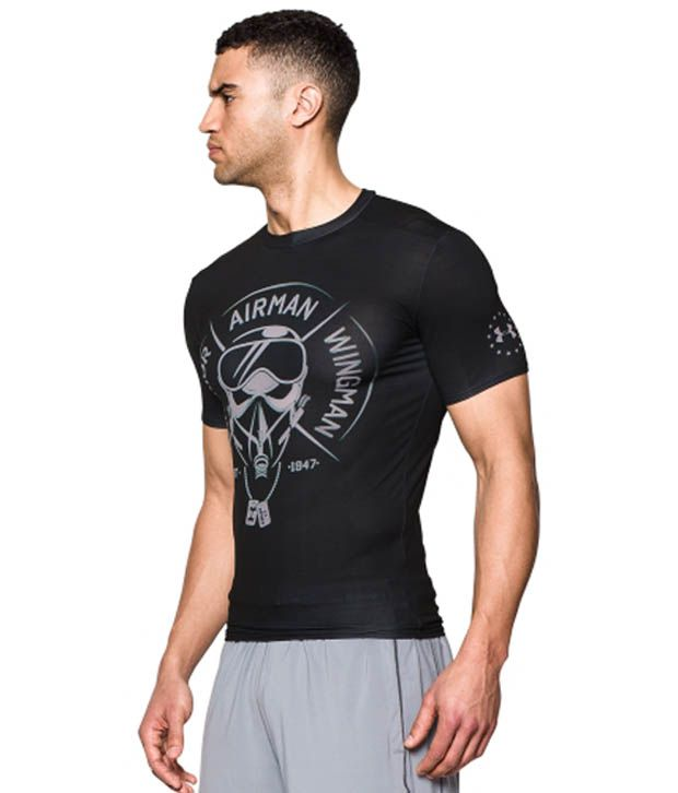 Under Armour Under Armour Men's Ua Freedom Air Force Compression Short Sleeve Shirt, Black