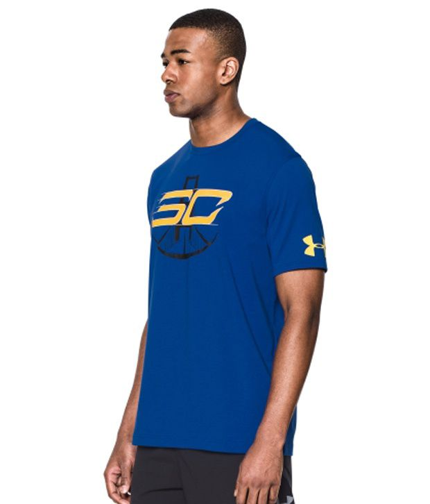 Under Armour Under Armour Men's Zone In Graphic Basketball T-shirt, Taxi/white/royal