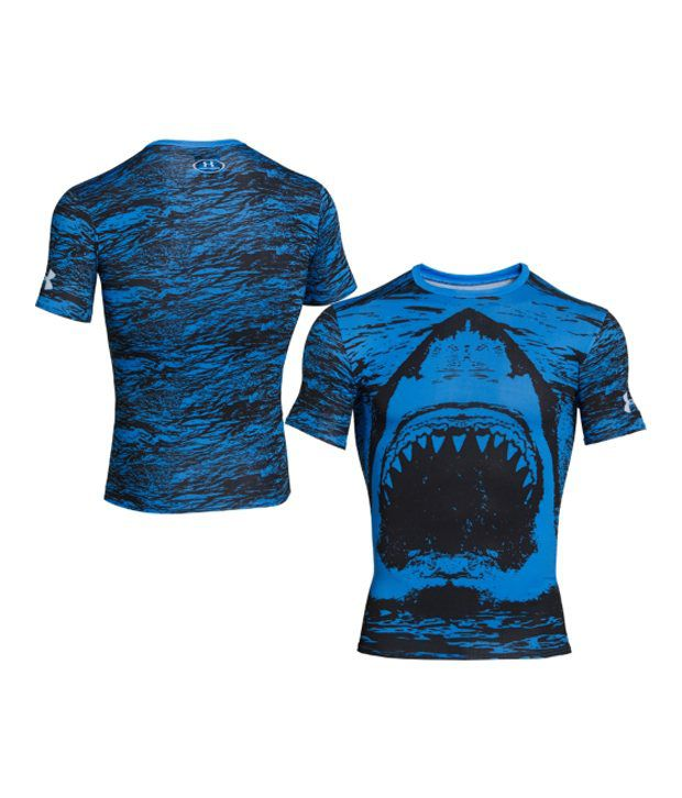 Under Armour Under Armour Men's Alter Ego Shark Compression Short Sleeve Shirt, Electric Blue/black