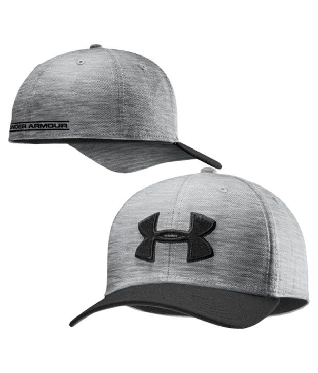 Under Armour Under Armour Men's Low Crown Stretch Fit Hat, Black/tropic Pink/tp