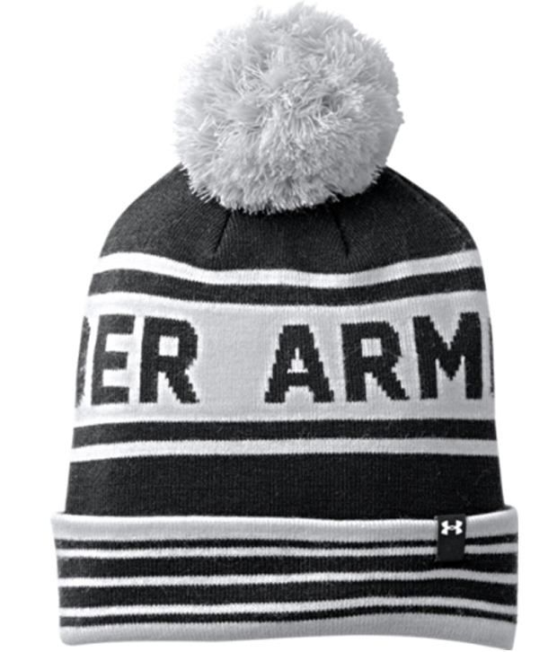 Under Armour Under Armour Men's Retro Pom Beanie, Black/elemental