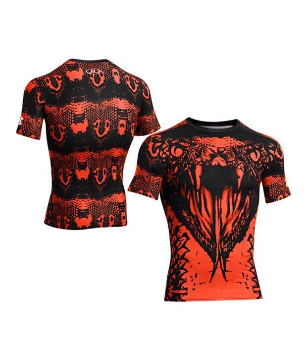 Under Armour Under Armour Men's Alter Ego Snake Compression Short Sleeve Shirt, Black/volcano/white