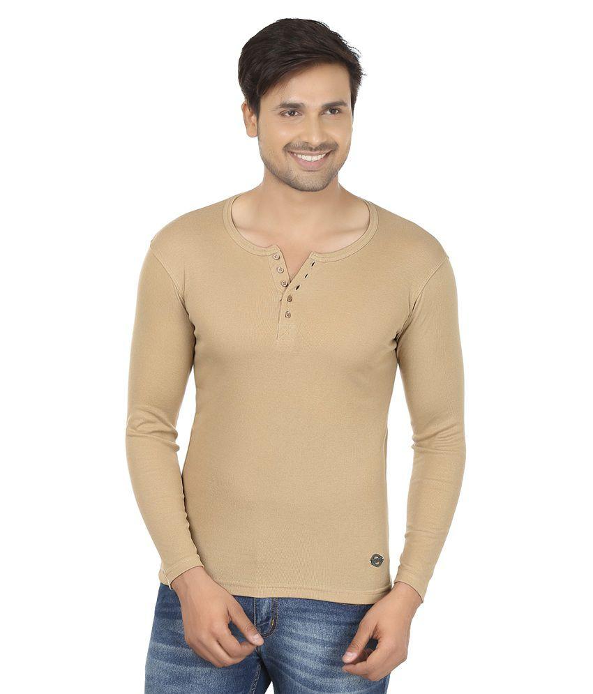 Fashcom Beige Full Sleeves T-shirt