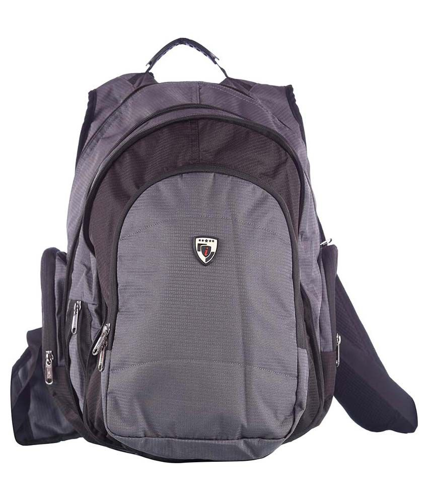 I Black And Gray Polyester Backpack