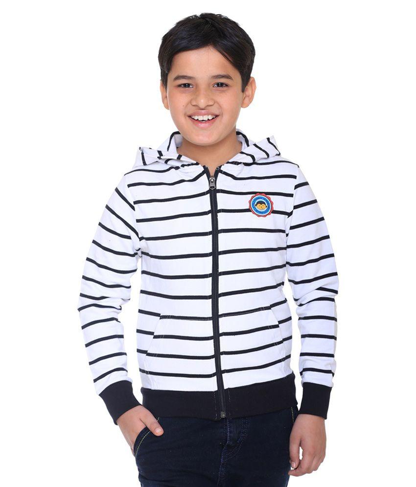 Kids-17 White And Blue Sweatshirt