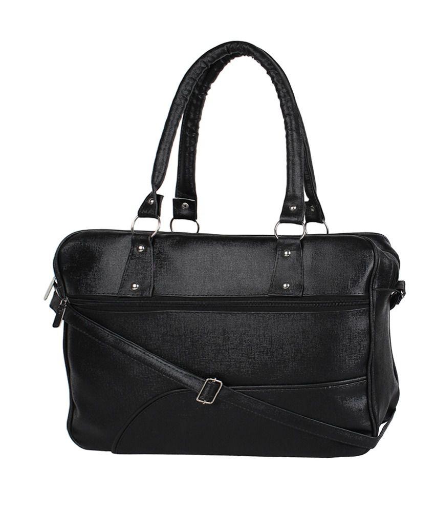 Sheomy Black Synthetic Shoulder Bag