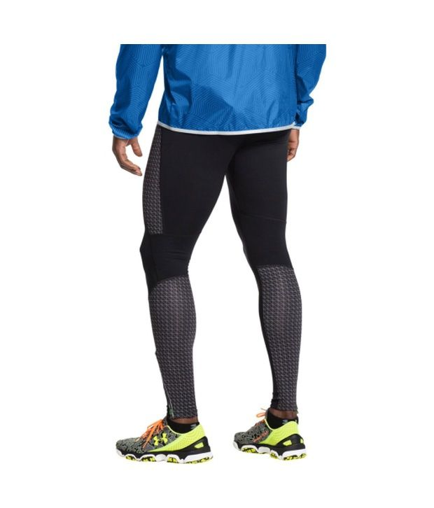 Under Armour Under Armour Men's Coldgear Infrared Running Compression Tights, Black/black/reflective