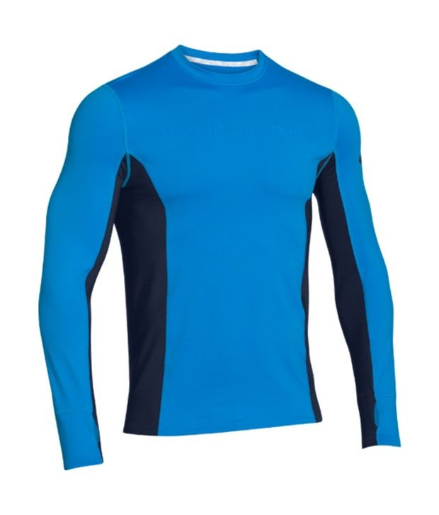 Under Armour Under Armour Men's Combine Training Coldgear Long Sleeve Shirt, Electric Blue/ady/ady