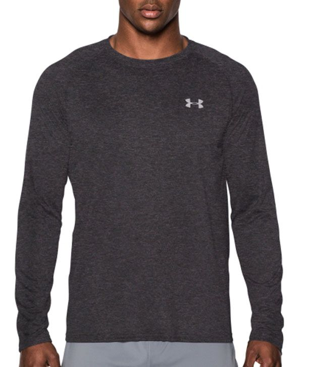 Under Armour Under Armour Men's Tech Long Sleeve Shirt, Red/steel