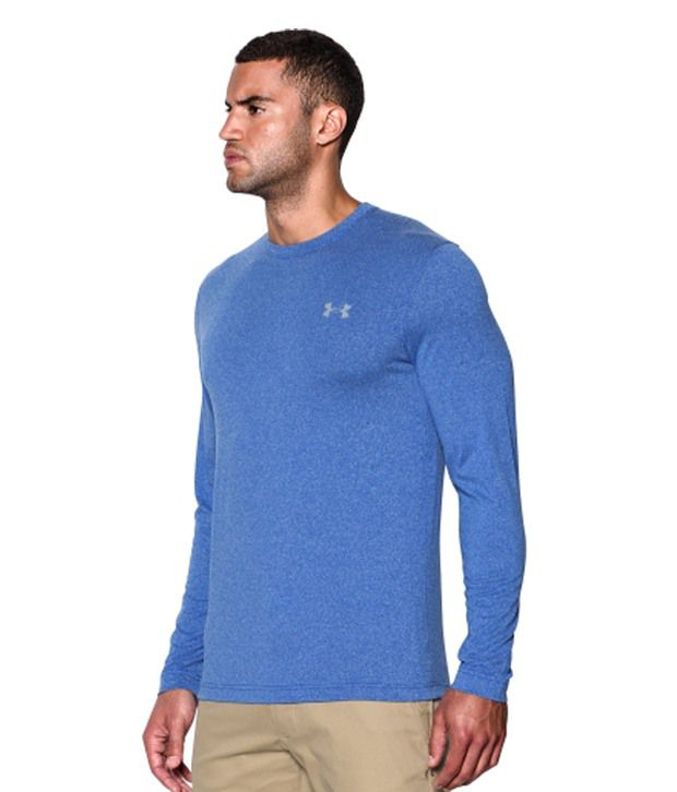 Under Armour Under Armour Men's Coldgear Infrared Crewneck Sweatshirt, Legion Blue/hi Vis Yellow